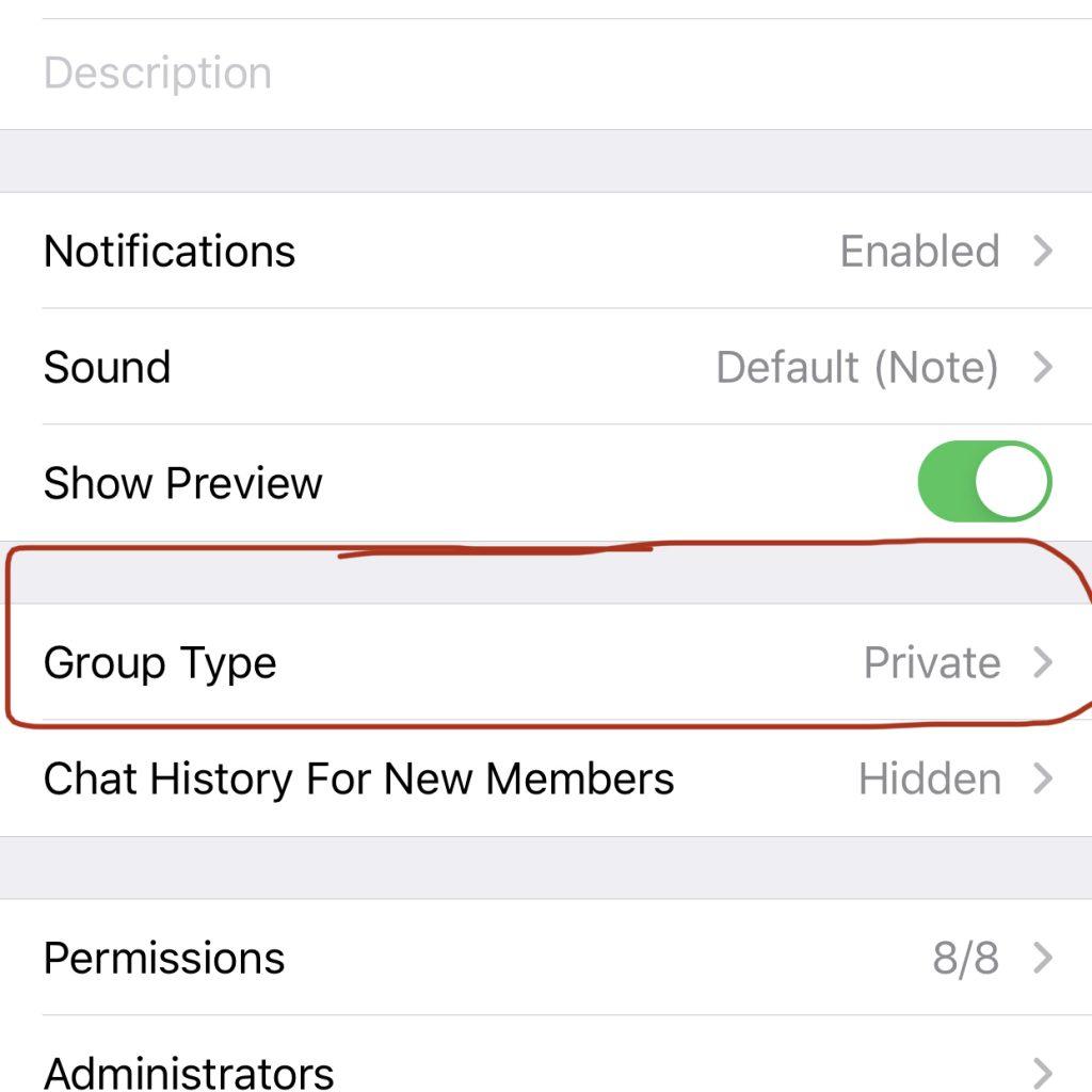 create telegram group
