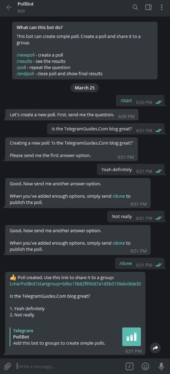 Telegram Pollbot