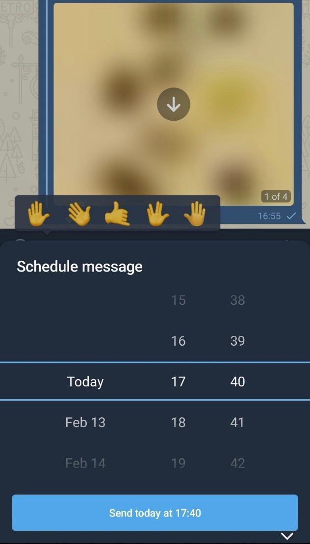 Scheduled Message